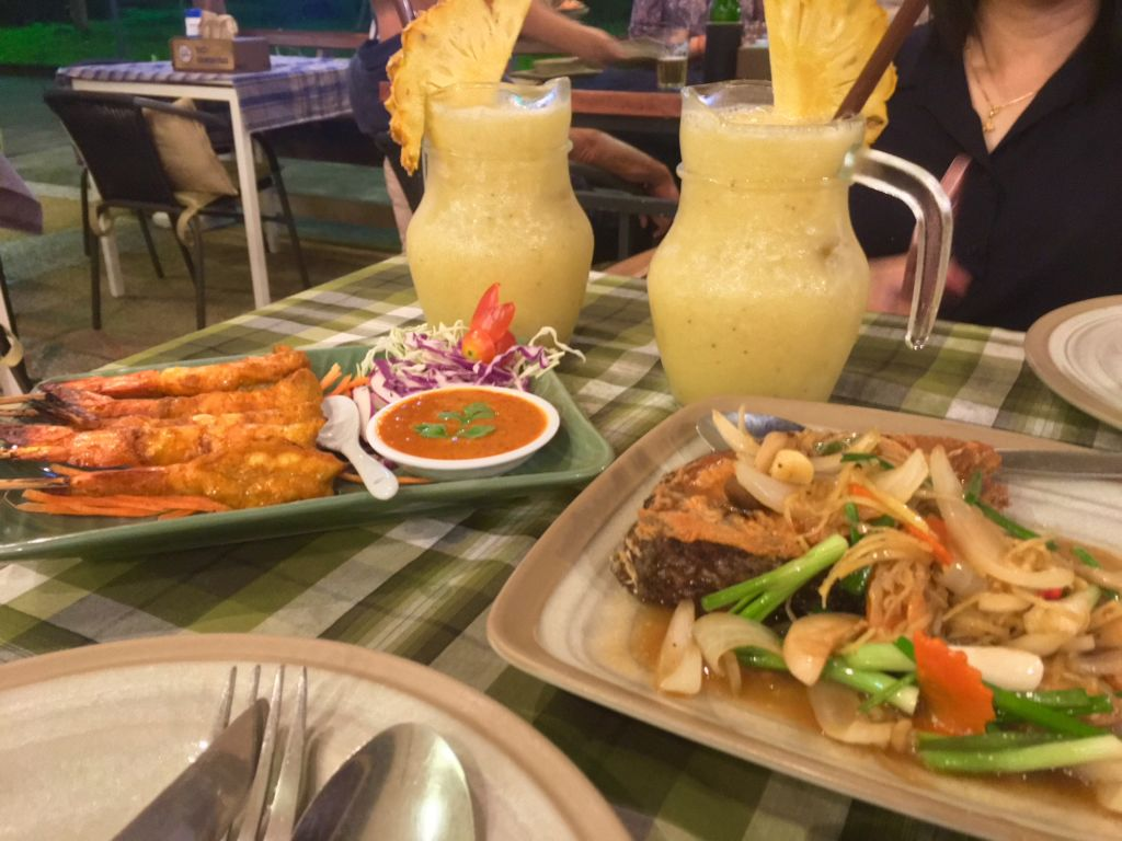 Seafood near Krabi beach