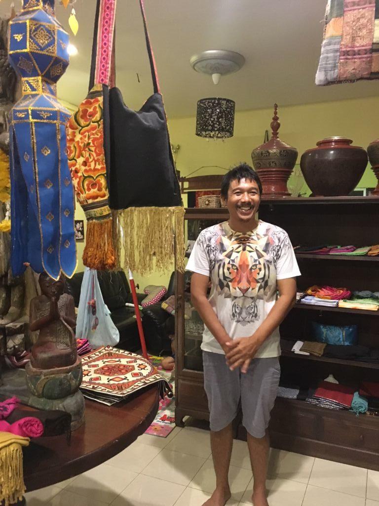 scarf shopping near Krabi beach