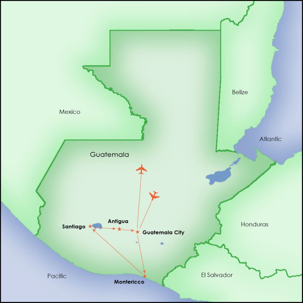Explore Guatemala Map